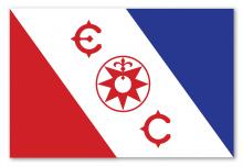 De beroemde vlag van de Explorers Club die aan L. Ron Hubbard werd geschonken voor zijn ontdekkingsreizen naar Alaska.