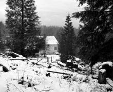 Een blik vanuit de cabine van de Port Orchard, Washington, waar L. Ron Hubbard in 1938