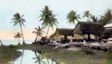 Fishermen's hut in San Antonio, Guam; gefotografeerd door L. Ron Hubbard en in 1930 gekocht door de National Geographic..